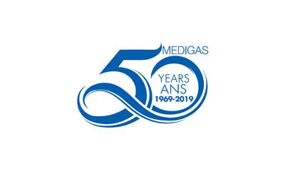 Medigas 50th anniversary logo