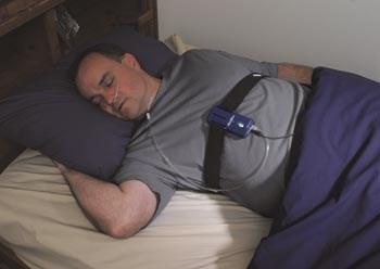 Photo of man going through sleep screening